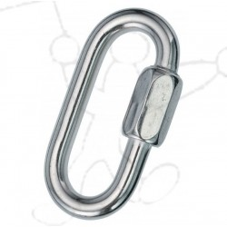 Stainless steel oval carabiner 6mm