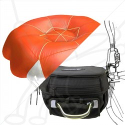 SQR Advance cockpit + rescue parachute pack