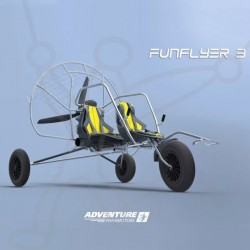 Paramoteur Adventure Funflyer3 chariot biplace
