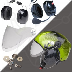 Pack helmet Solar X + headset Ice Lite + visor