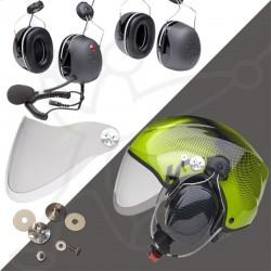 Pack helmet Solar X + headset + visor