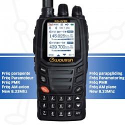 Radio Wouxun KGUV9K+ VHF UHF AM plane 8.33Mhz