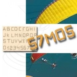 Kit Lettres pour immat ULM paramotor