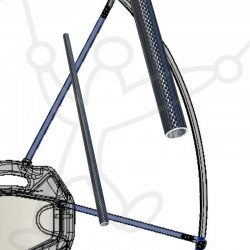 Adventure Pluma and Primus Paramotor frame carbon spoke
