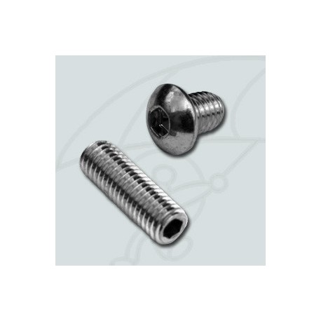 Screw and bolt fixing silent exhaust block
