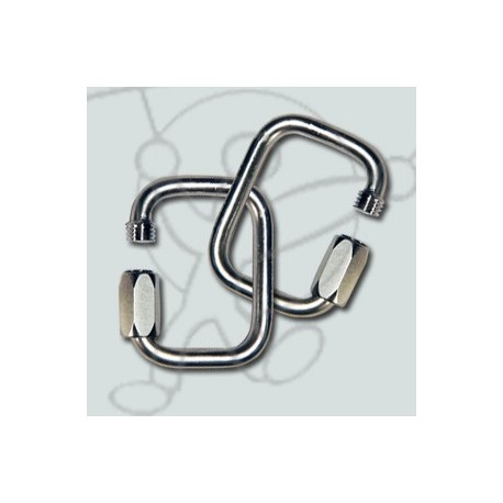 Pack 6mm stainless steel square links
