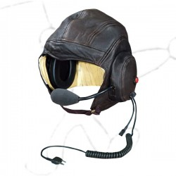 Leather helmet Lynx